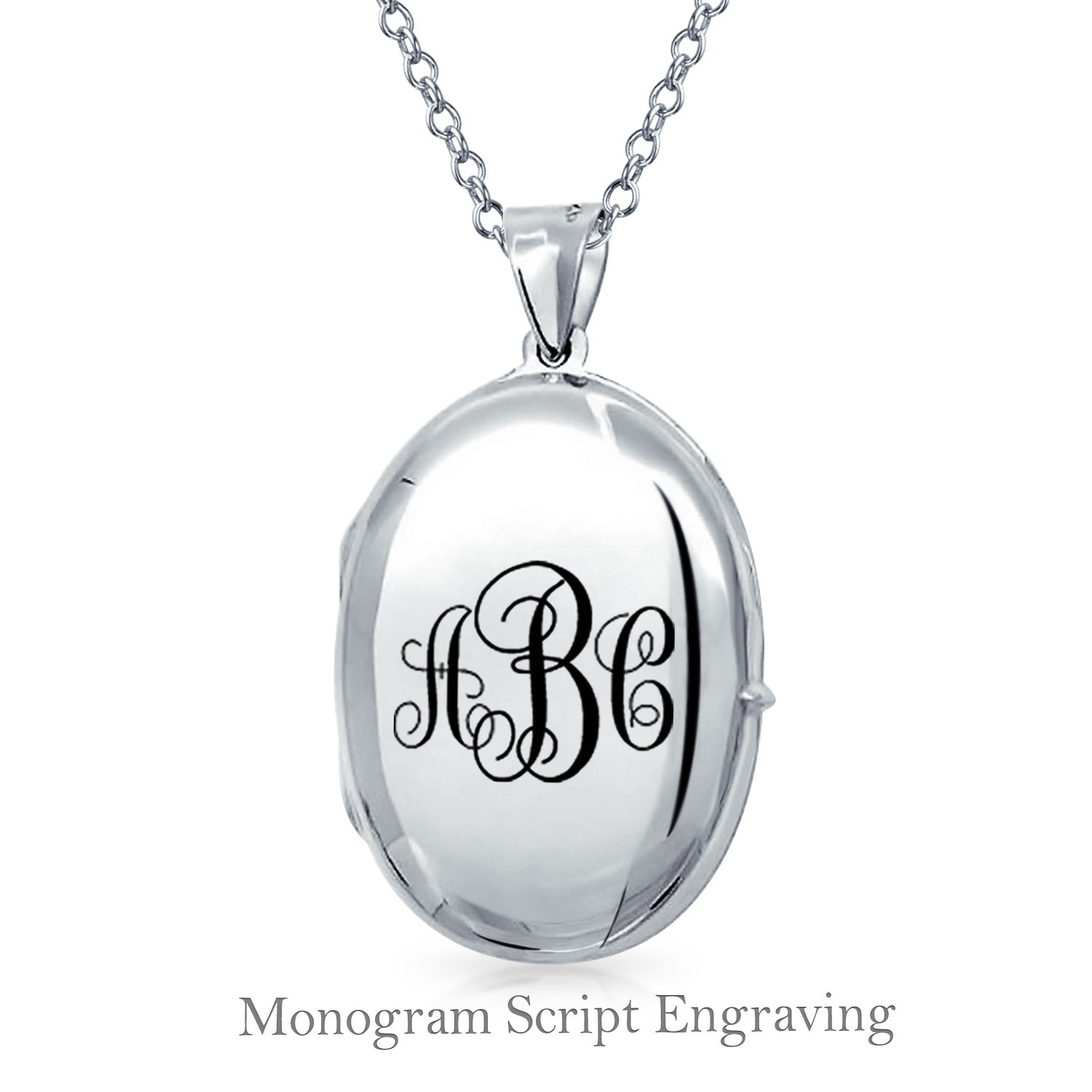 personalised lockets locket silver sterling monogram
