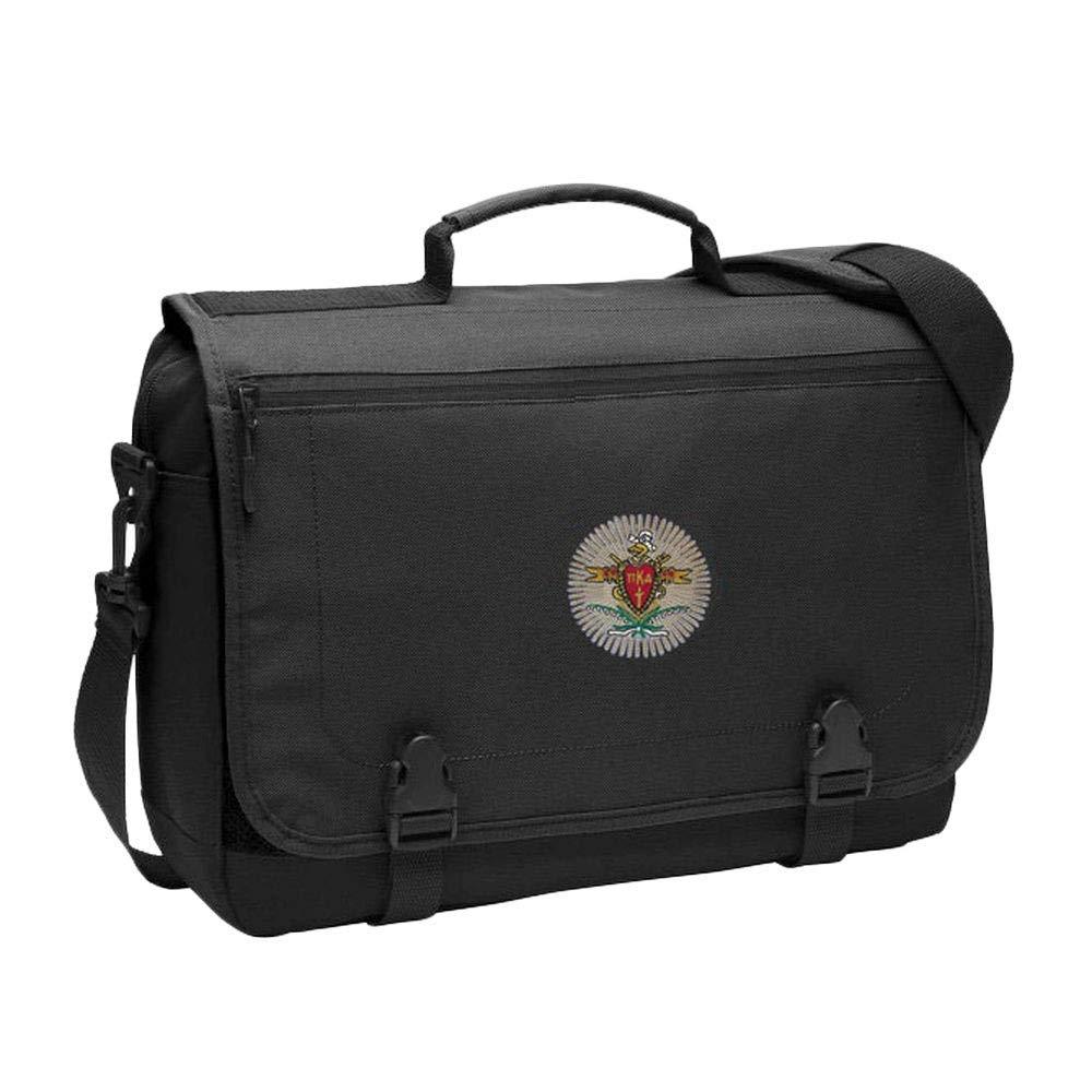 Greekgear Pi Kappa Alpha PIKE Messenger Briefcase Black