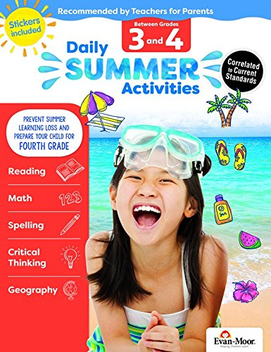 Evan-Moor Daily Summer Activities, Between 3rd Grade and 4th Grade Activity Book; Daily Summer Bridge Activity ()