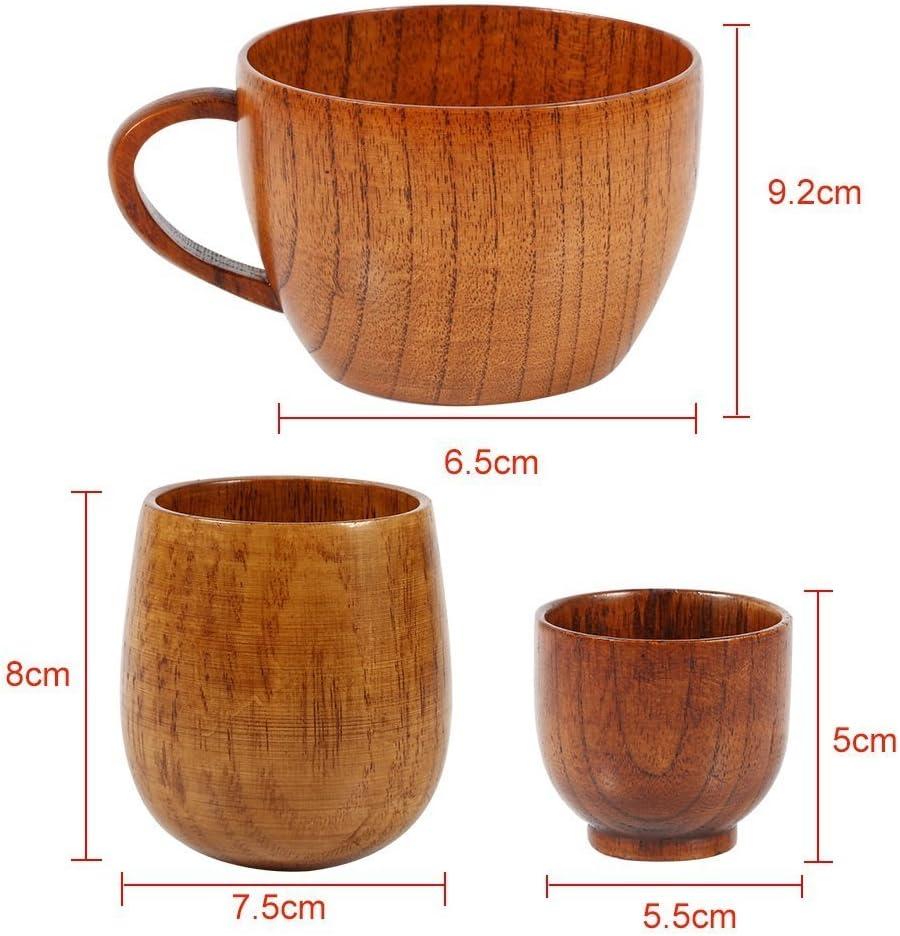 Style : #1 Tasse En Bois De Haut Niveau Tasse De Caf/é En Bois Naturel /À La Main Tasses /À Th/é Tasses D/écoratives Cadeau Classique 3 Tailles