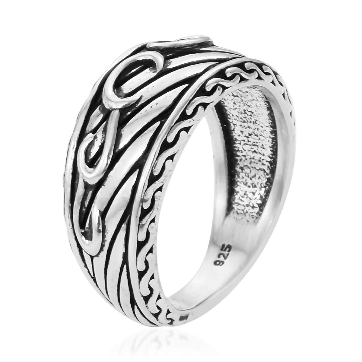 Statement Ring 925 Sterling Silver Boho Handmade Jewelry for Women Avg 5.20 g