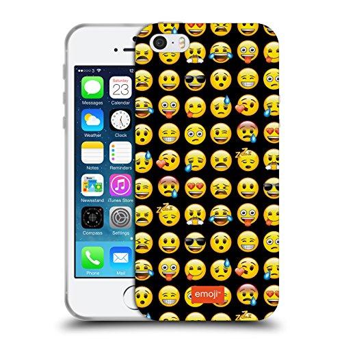 Officiel Emoji Modèle Smileys Étui Coque en Gel molle pour Apple iPhone 5 / 5s / SE