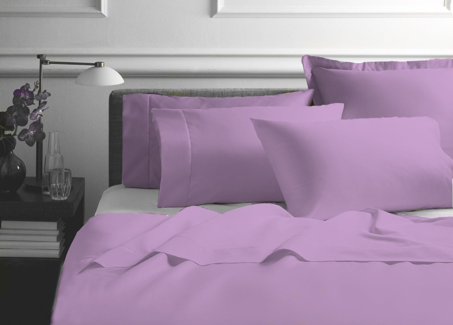 Amazon.com: Organic Cotton Bed Sheet Set By Organic Textiles LLC, Premium  Version With.. Soft And Luxurious   Queen Lilac: Home U0026 Kitchen