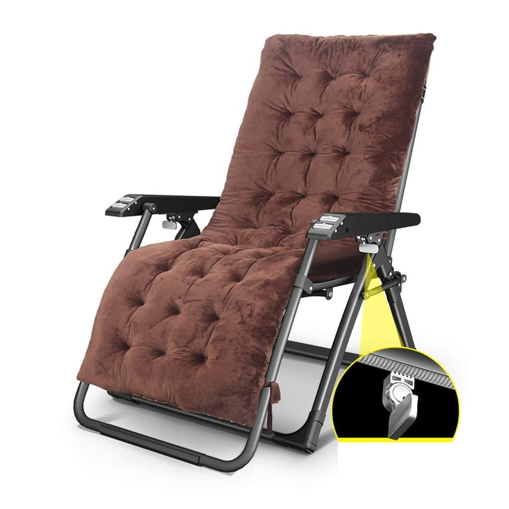 折り畳み式デッキチェア背もたれアームチェアビーチ サンラウンジャーガーデンチェア休憩椅子妊娠中の女性リクライニングチェアキャンプチェア屋外リクライニングチェア (色 : A+cushion) B07S368Z6R A+cushion