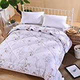 Polyester bed/bedding Warmth Full/Queen/Full/Twin Size Comforter Duvet Insert,Hypoallergenic Box Stitched,Feather Quilting Duvet,8 Full Branch-White,1.5×2m (2Kg)