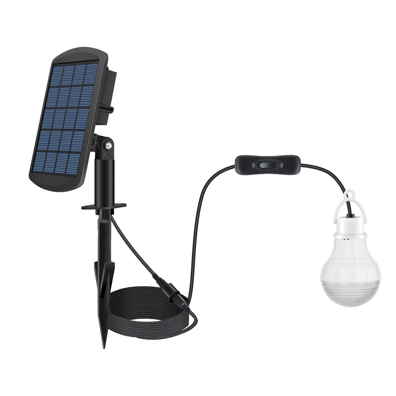 FEIFEIER Solar Power LED Bulb Lamp Solar Shed Light/Solar Barn Light (2 Led Bulbs)