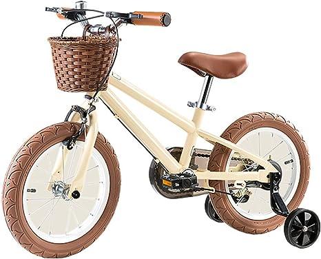 Axdwfd Infantiles Bicicletas Bicicletas for niños con Rueda Auxiliar, for niños Bicicleta equilibrada Boy Girl Pedal Bicicleta Puzzle Walker Regalo for niños (Color ...