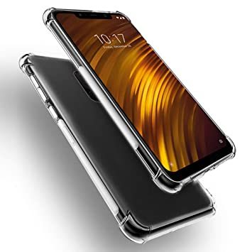 PaceBid Funda Xiaomi Pocophone F1, Carcasa Silicona Suave Protector TPU [Ultra-Delgado][Anti-Arañazos] Xiaomi Pocophone F1 -Transparente