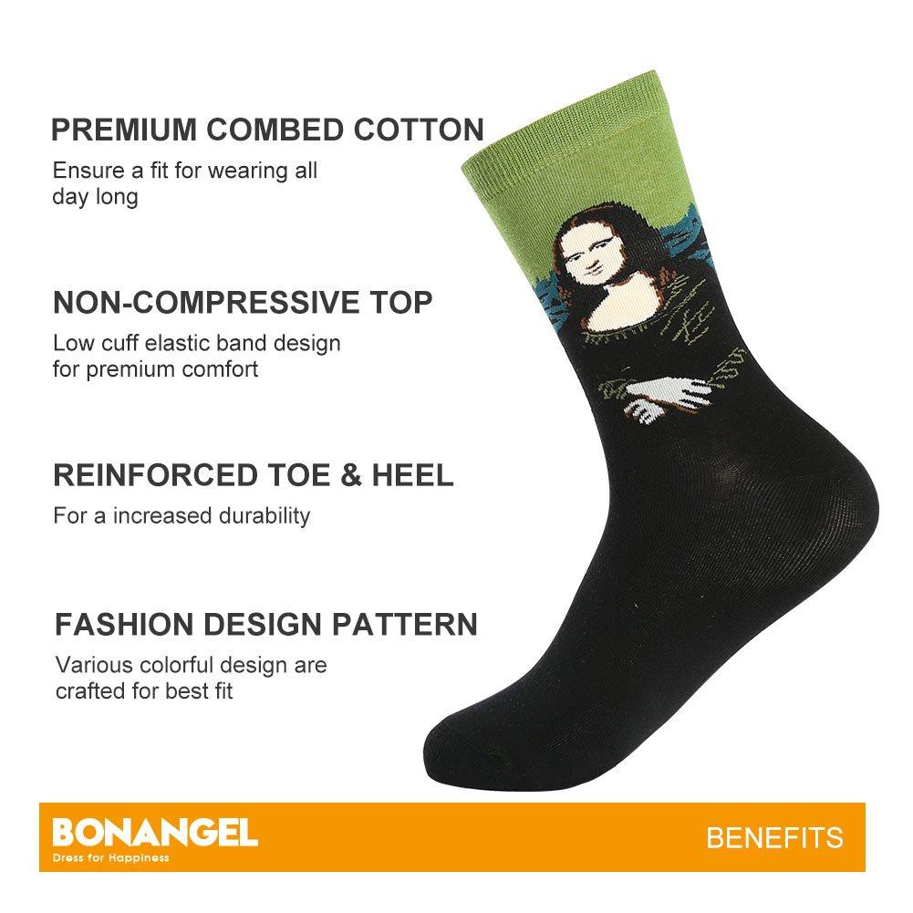 Bonangel Men's Fun Dress Socks-Colorful Funny Novelty Crew Socks Pack,Art Socks by Bonangel (Image #2)