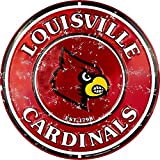Signs 4 Fun Srclc Louisville Cardinals Retro Round Sign