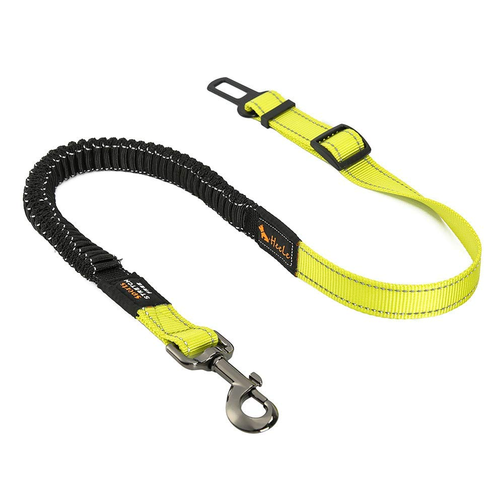 GBY Dog seat Belt, pet car seat Belt, car seat Belt pet Leash, Telescopic car Traction Rope, Fixed Belt car Traction Rope, Suitable for Large, Medium and Small Dogs-Green by GBY