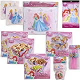 Disney Princess Ultimate Birthday Party Supply Kit for 12 - 12 Placemats, 2 large (10