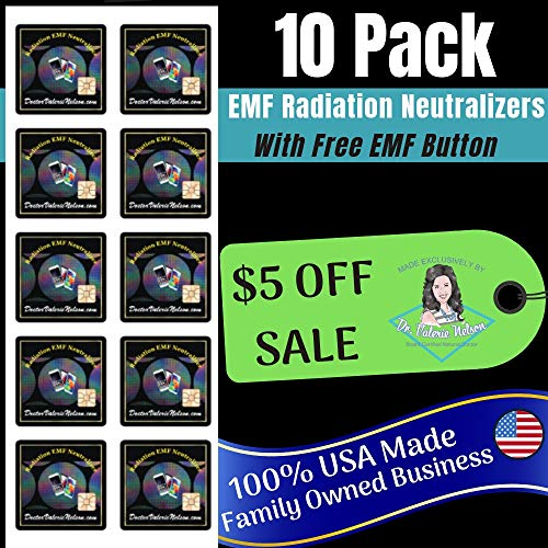 Cell Phone EMF Protection Radiation Neutralizers by Board Certified Natural Doctor - 5 or 10 Pack