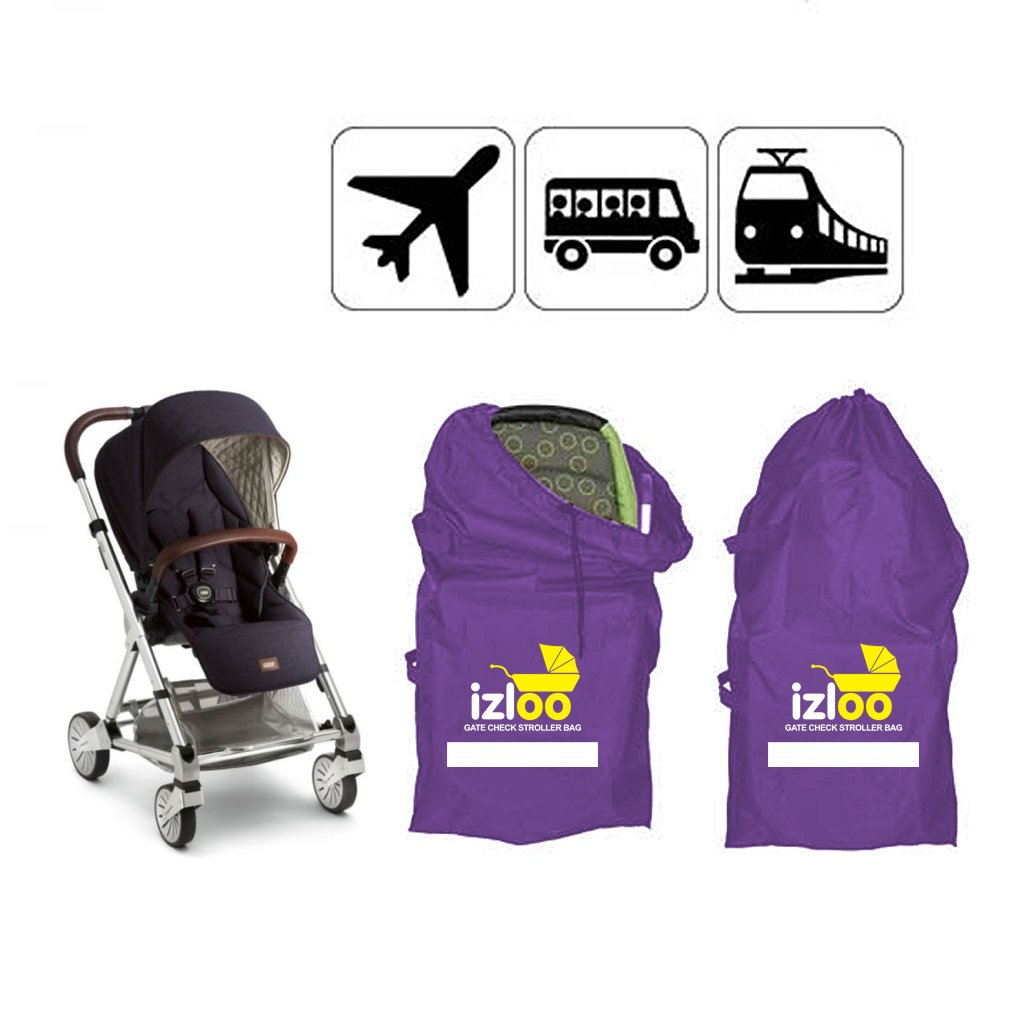 Izloo Gate Check Bag For Car Seat Single Or Double Stroller Pram Buggy Push Chair