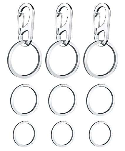 4 Pack Dog Tag Clips Easy Change Pet Id Tag Holders With Rings For