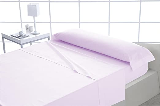 ForenTex - Juego de sábanas, (X-Rosa), 100% algodón, Rosa, Cama de ...