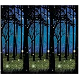 Fun Express Enchanted Forest Scene Setter - Party Decorations & Backdrops & Scene Setters,Blue, black, green