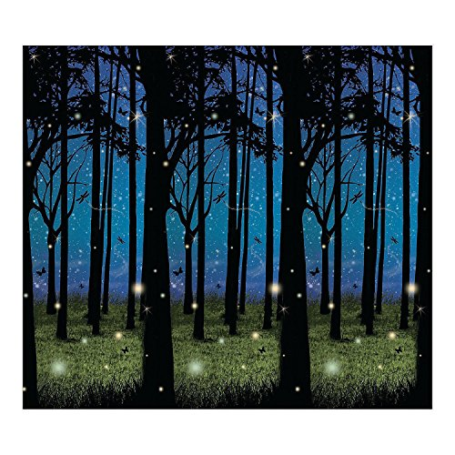Fun Express Enchanted Forest Scene Setter - Party Decorations & Backdrops & Scene Setters,Blue, black, -
