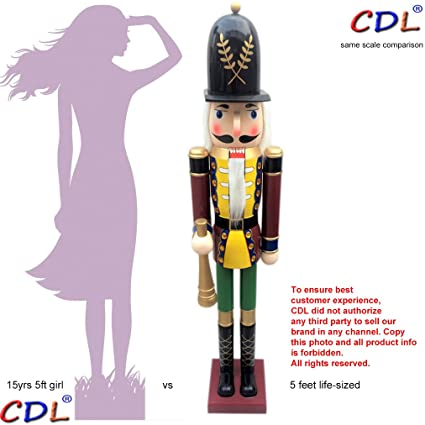 cdl 60 5feet tall life size largegiant red xmas wooden nutcracker soldier - Large Life Size Toy Soldier Christmas Outdoor Decorations