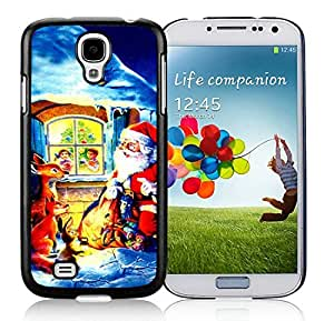 Featured Desin Samsung S4 TPU Protective Skin Cover Santa Claus Black Samsung Galaxy S4 i9500 Case 31