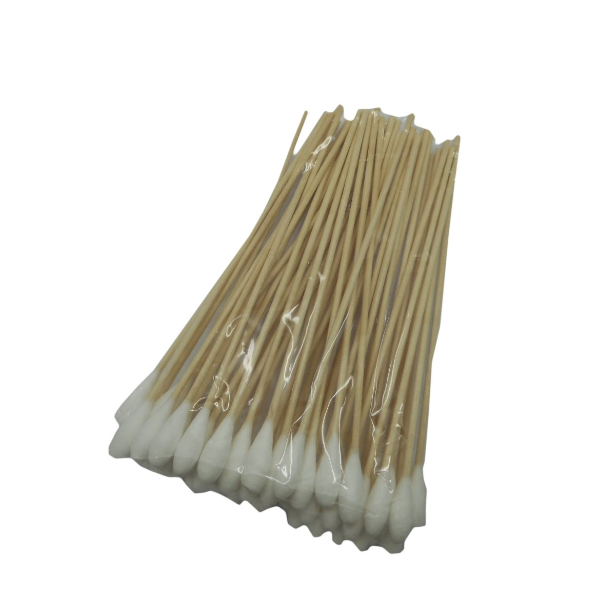 Urairak Cotton Swabs with Wood Handle Great for Dog Ears (6''-Middle) Set of 50 Pcs.