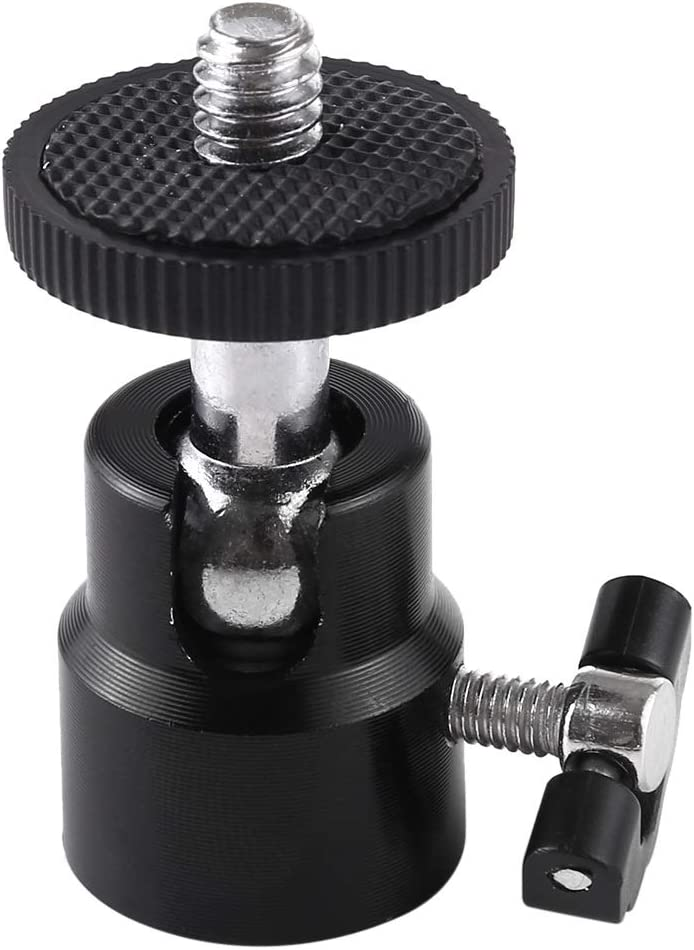 Ychaoya Camera Stand 1//4 inch Screw Alloy Tripod Ball Head Adapter with Lock
