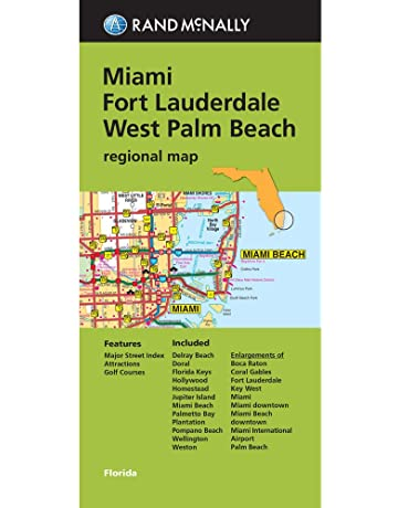 Folded Map: Miami, Fort Lauderdale, and West Palm Beach Regional Map (Rand