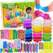DIY Slime Kit for Girls Boys - Ultimate Glow in the Dark Glitter Slime Making Kit Arts Crafts - Slime Kits Sup
