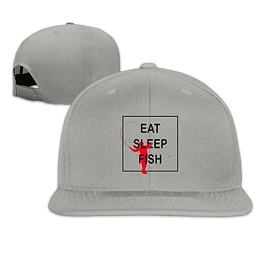 2b8eeef9db2 Maurm Eat Sleep Fish Repeat Go Fishing Fisherman Baseball Caps Cute  Backsnap Hats Bones Hip Hop