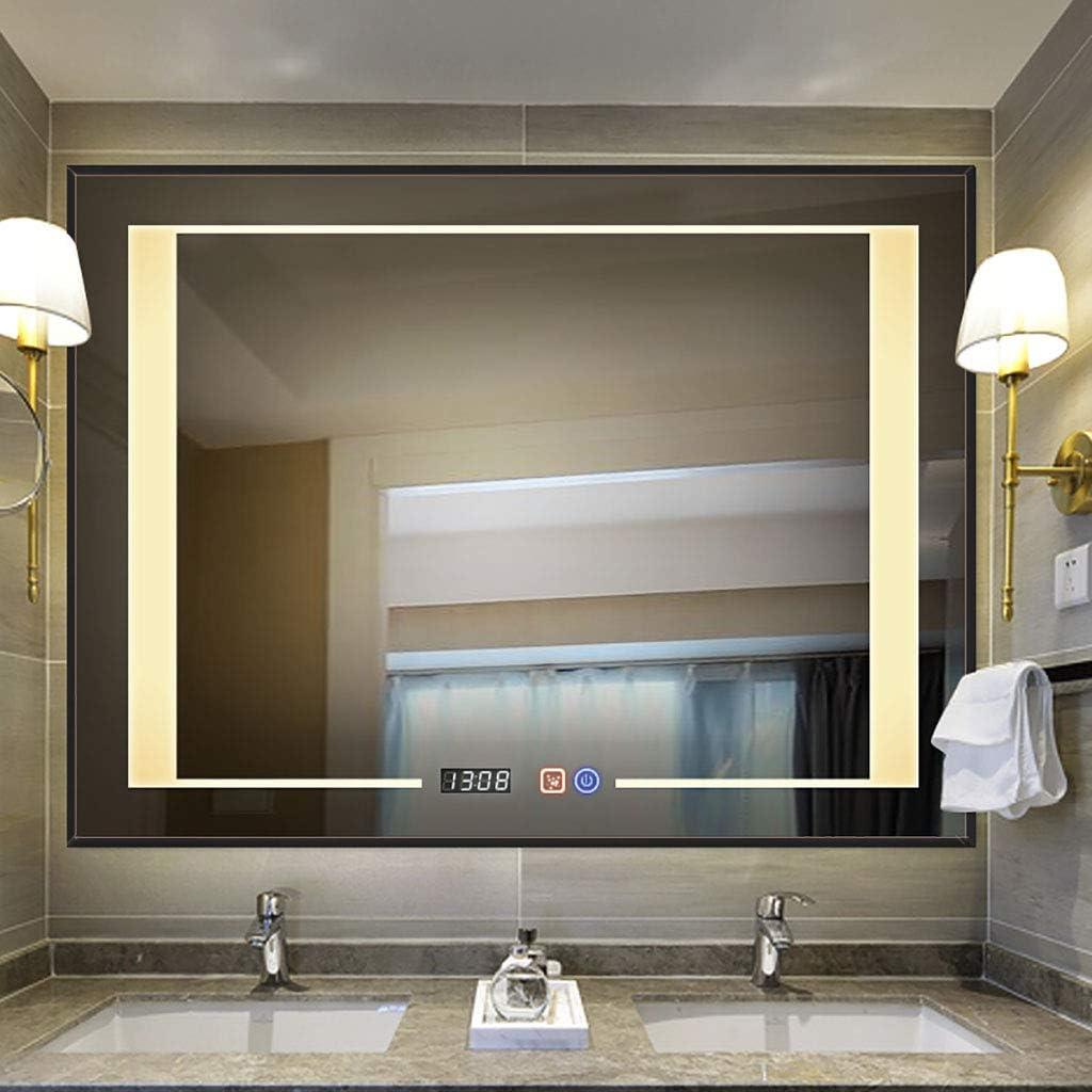 D/&S Paris Bathroom Mirror with LED Lighting with Anti-Fog Function Round Mirror Diameter 60 cm 6500 K White Light