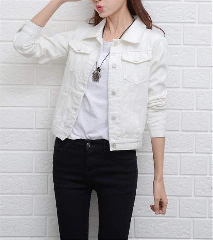 QK Lannister Jeans Giacca Donna Eleganti Primaverile Autunno