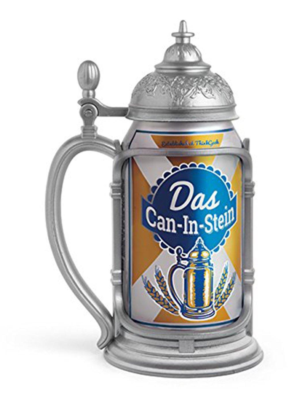 Lid german beer mug hinged lid gaming computer desk ideas - Amazon Com Thinkgeek Das Can In Stein Oktoberfest Every Day Beer Mugs Steins