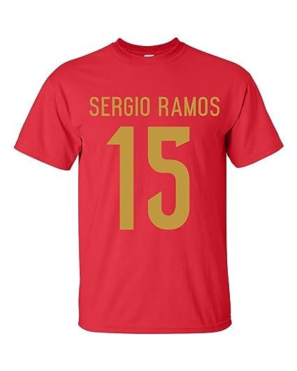 detailed look 49988 36e7b Amazon.com : Gildan Sergio Ramos Spain Hero T-Shirt (red ...