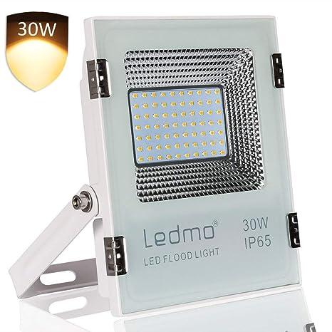 foco led exterior 30W 2700K Blanco cálido,focos led 3000lm SMD2835 ...
