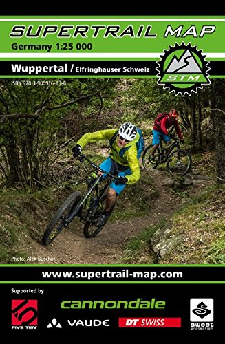 Supertrail Map Wuppertal / Elfringhauser Schweiz: Maßstab 1:25.000 (Englisch) Landkarte – Folded Map, 28. April 2015 Outkomm 3905916835 Nordrhein-Westfalen Gazetteers & Maps)