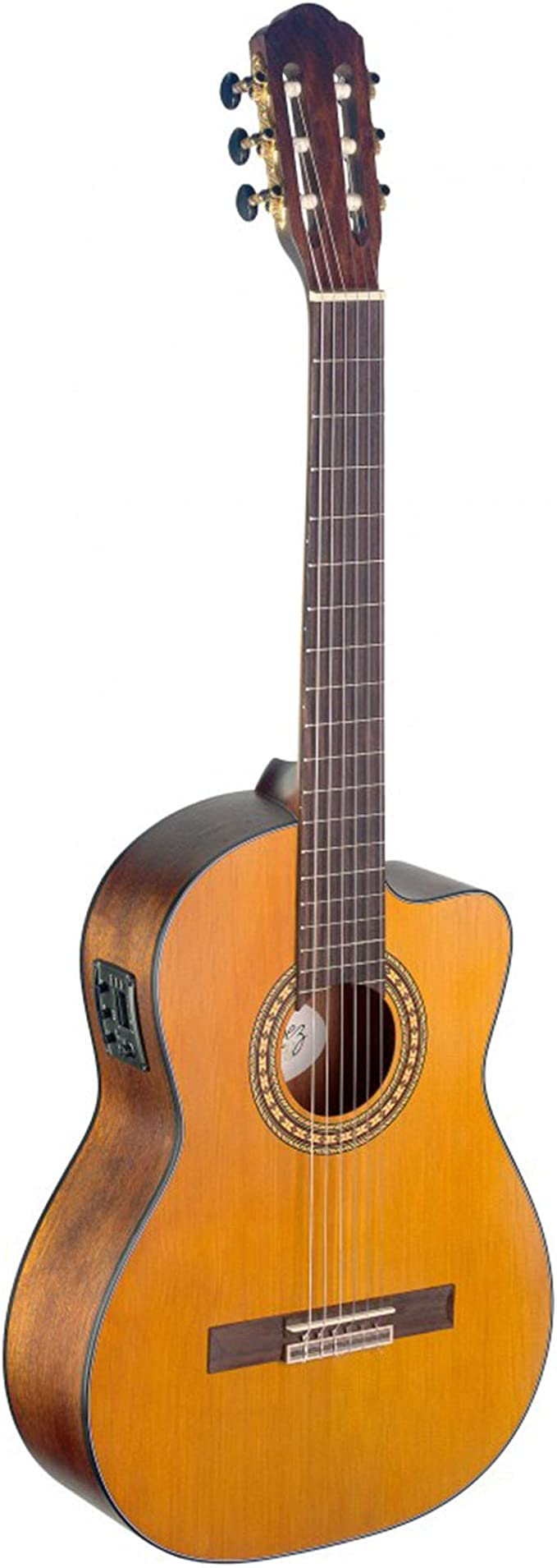 Stagg SIL-CE M Silvera Solid Spruce Top Semi-Acoustic guitarra ...
