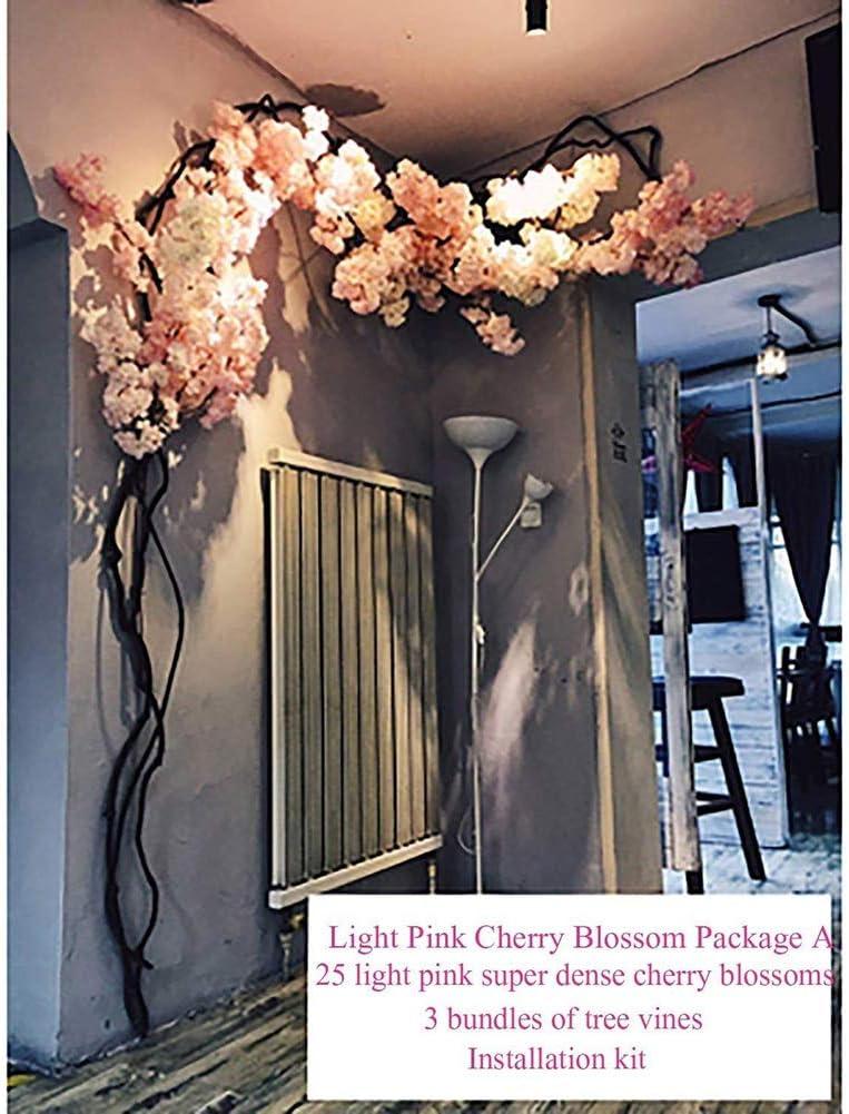 Lak Large Artificial Plant Soil Simulation Cherry Tree Fake Indoor Office Home Decor Party Cherry Blossom Outdoor Amazon De Sport Freizeit
