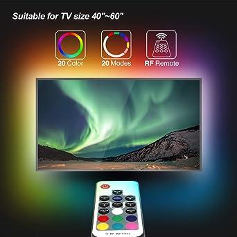 Speclux tira de luces LED para TV de 40 a 60 pulgadas, tiras de ...