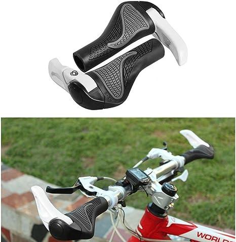 Aolvo MTB - Puños de manillar ergonómicos, ajuste universal, 22 mm, doble cierre de goma para manillar