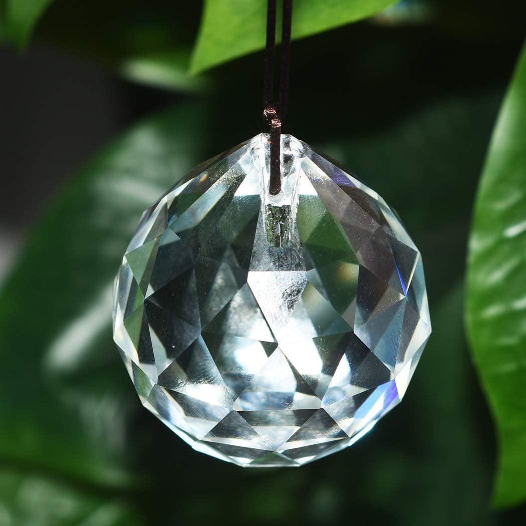 40mm Sun Catcher Bola de Gota de Agua de Cristal para decoraci/ón de l/ámpara//l/ámpara de Techo Lumanie 4pcs 30 Colgantes Colgantes para decoraci/ón de Boda