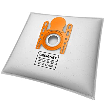 10 bolsas para aspiradora Kärcher VC 6 Premium, VC 6100 ...