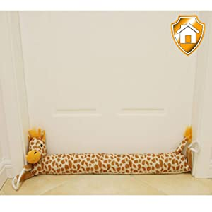 "MAXTID 37"" Giraffe Door Draft Stopper 2lb Draft Dodger Doors Snake with Hanging Cord, Prevent Wind, Noise Save Energy & Money"