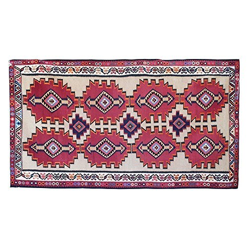 1' X 6.5' vintage design Bohemian Style Turkish hand knotted Kilim rug, Vintage Floor Rug, Oriental Area Rug, handmade Traditional Fancy Carpet. Code: R0101101