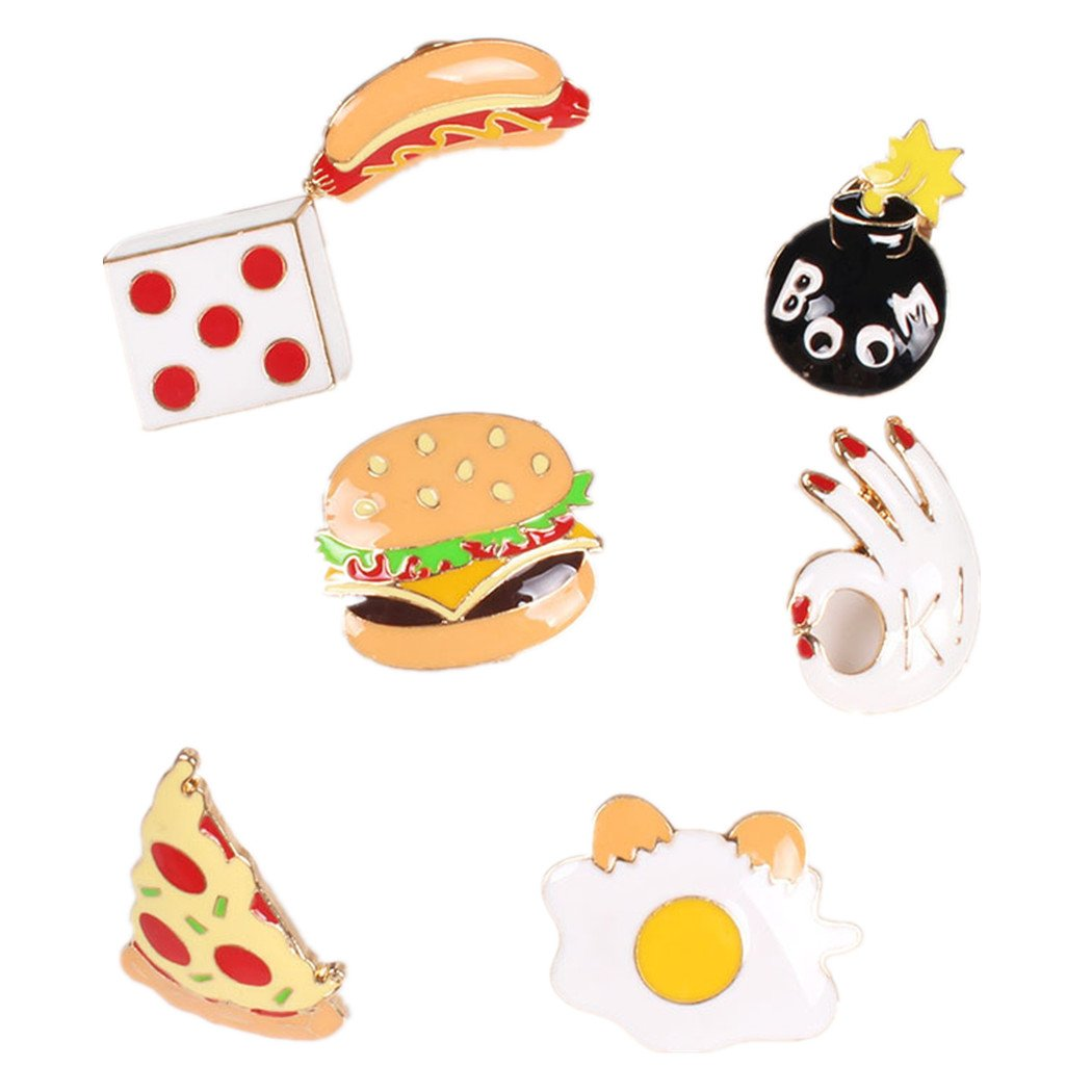 Onnea Enamel Brooch Pin Set Brooches Patches for Clothes/Bags/Backpacks (Fast food pin set) by Onnea fashion (Image #1)