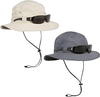 Solar Escape UV Explorer Bucket Hat Pair One Charcoal and One Khaki