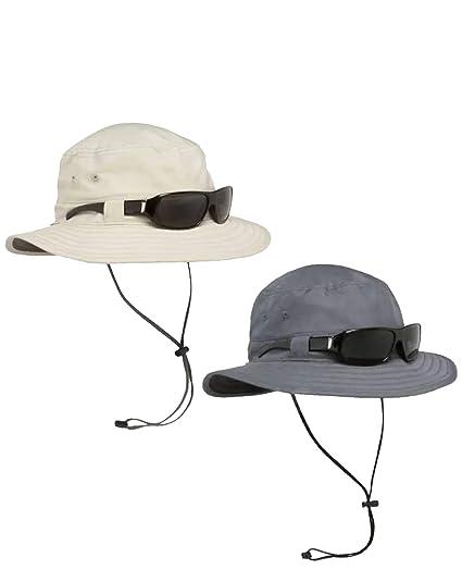 SOLAIRE ESCAPE-Explorer Bucket Hat-Protection UV UPF 50 Protection-Gris Neuf avec étiquettes