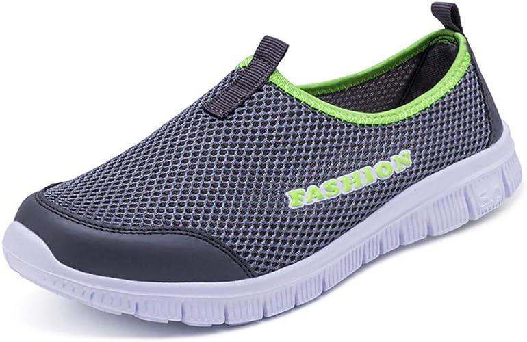 JOYBI Women Casual Air Mesh Walking Shoes Summer Lace Breathable Comfortable Tenis Slip On Wedges Sneakers