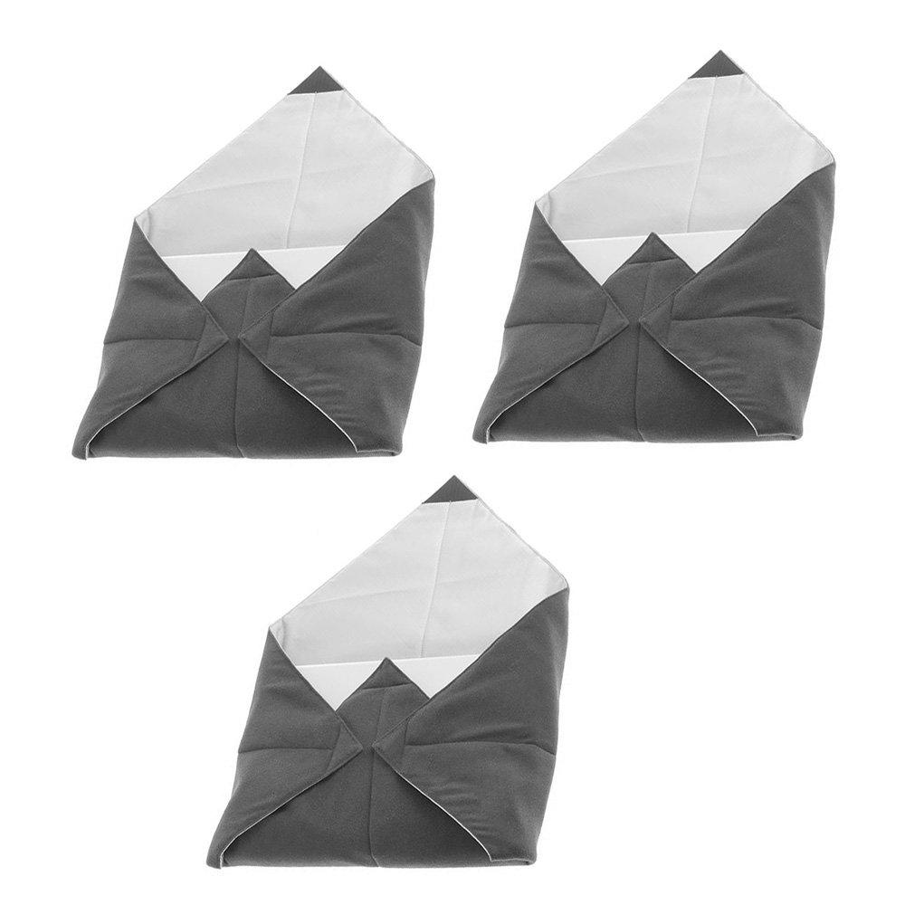 Set of Three Tenba Messenger 22-in. Portable Protective Wraps for Electronics - Platinum Grey (638-288) by Tenba