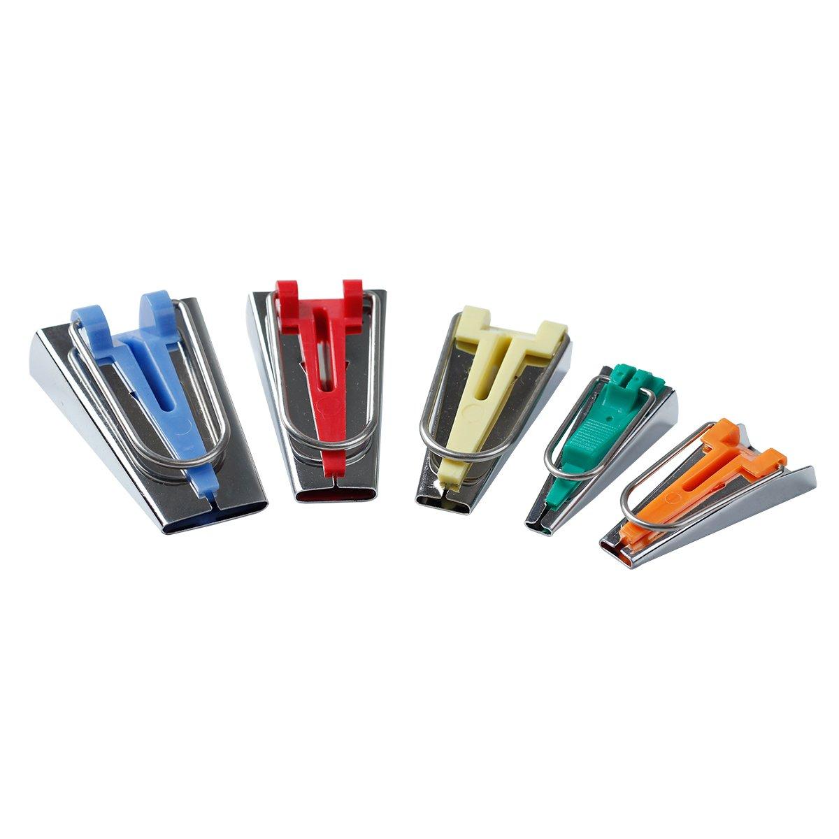 HONEYSEW Bias Tape Maker Set 6MM/9MM/12MM/18MM/25MM 5 sizes DIY Quilting Tools Kit 4337014117