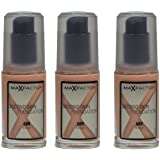 3x Max Factor Second Skin Foundation 080Bronce-30ml